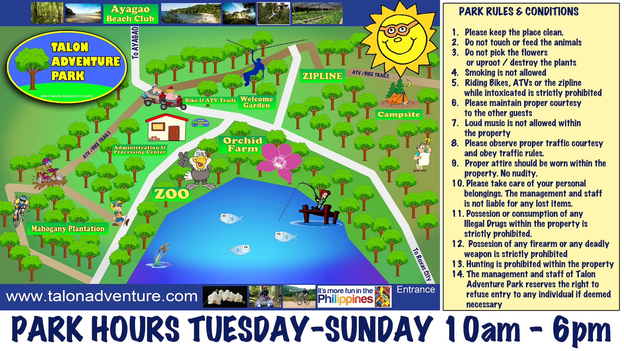 Park Map &Rules